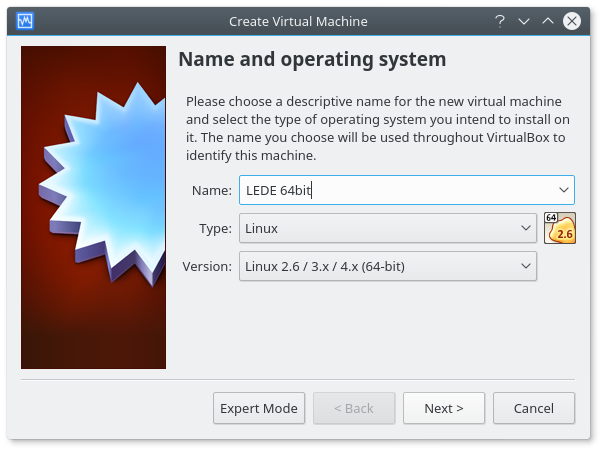 OpenWrt Project: Run OpenWrt as a VirtualBox virtual machine