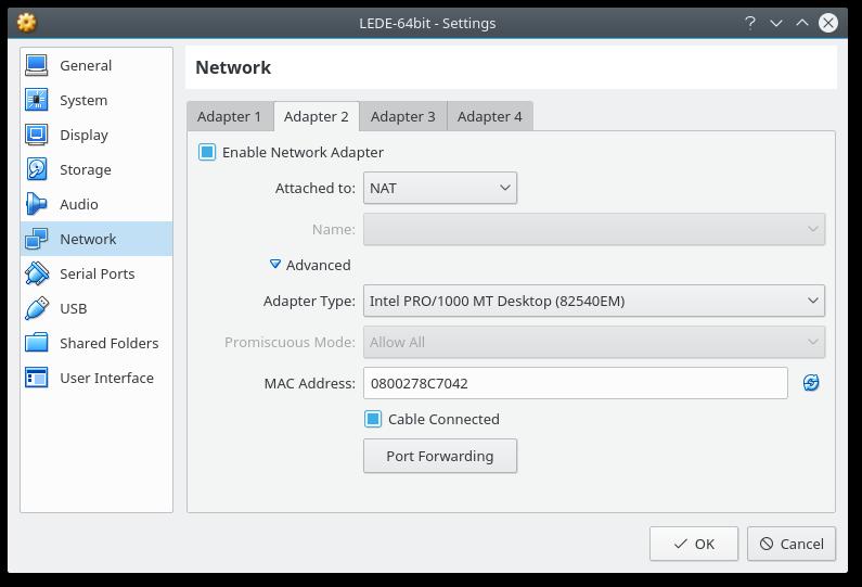 OpenWrt Project: Run OpenWrt as a VirtualBox virtual machine