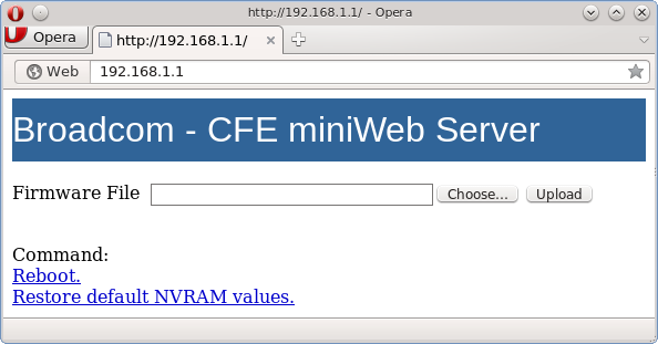 OpenWrt Project: CFE