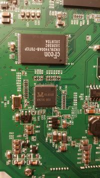 Flash and ethernet PHY