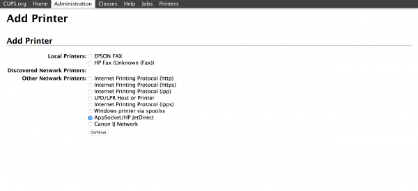 OpenWrt Project: p910nd Print Server