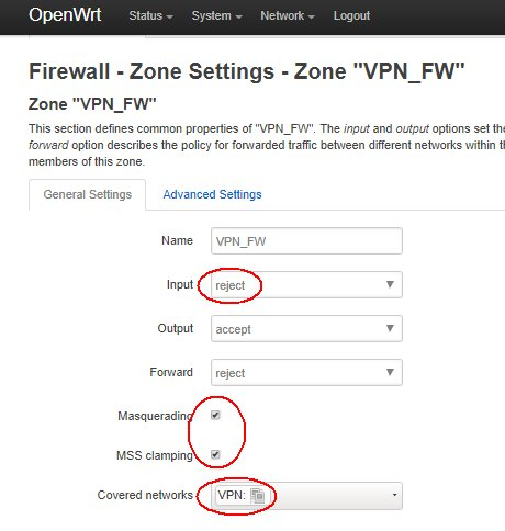 OpenWrt Project: PPTP client
