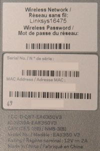 Linksys EA6350 v3 Label