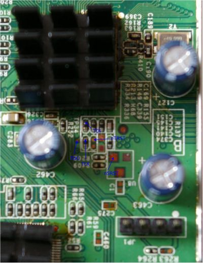 JTAG pins on PCB top side