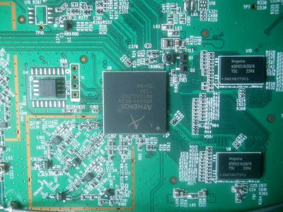 TP-Link TL-WDR3600 - PCB top layer - CPU detail