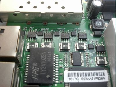 PCB PoE-section