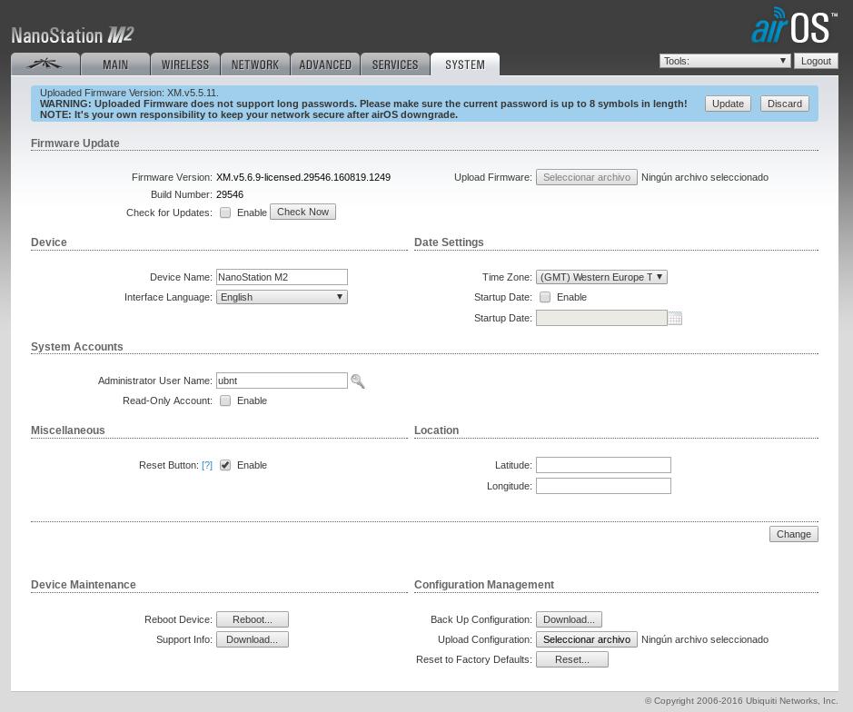 Ubiquiti NanoStation Loco M5 (XM) AREDN Drivers for Mac Download