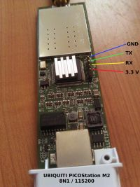 Picostation M2 serial header